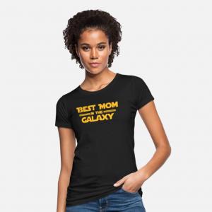 Womens Best Mom In Galaxy T-Shirt