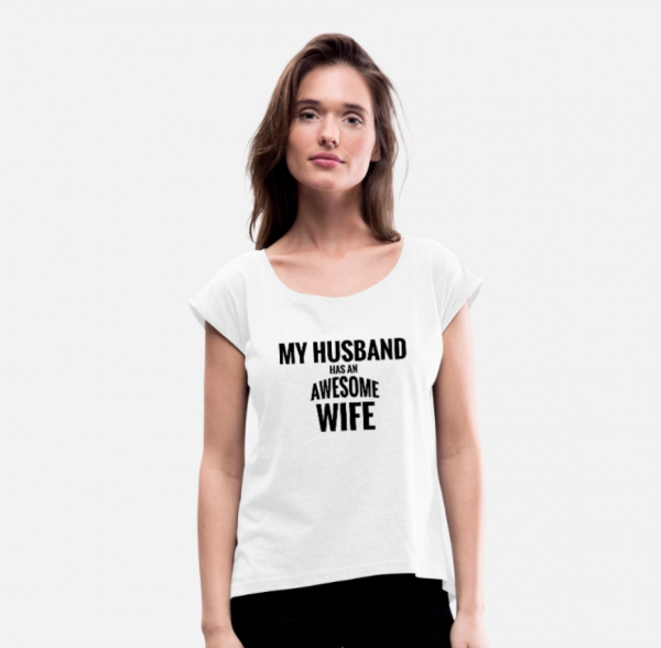 husband has an awesome wife t-shirt